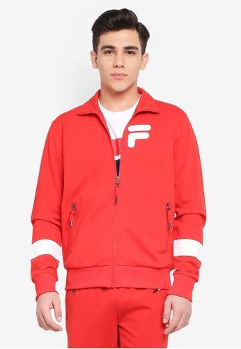 FILA red Orginale Knit Zip Jacket 6398EAAC060C20GS_1
