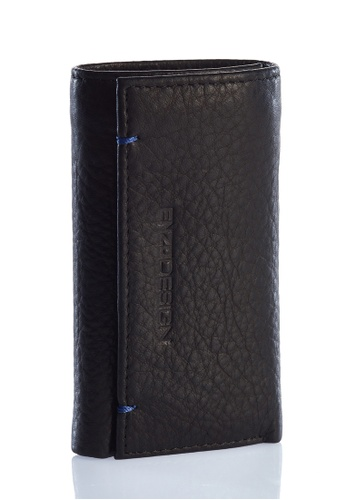 ENZODESIGN black Ultra Soft Leather Handy Key Holder With Zip and Bill Compartment EN357AC0F59ASG_1