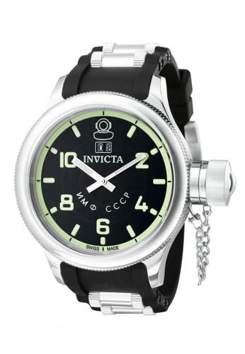 Invicta black Russian Diver IN4342 Black PU Strap Men Watch IN456AC0RJ4IMY_1