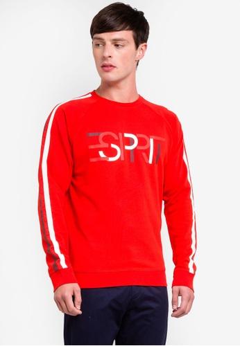 ESPRIT 紅色 長袖棉T 6837EAA0C6FE3DGS_1