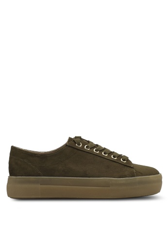 TOPSHOP green Caramel Gumsole Trainers TO412SH0SRS3MY_1