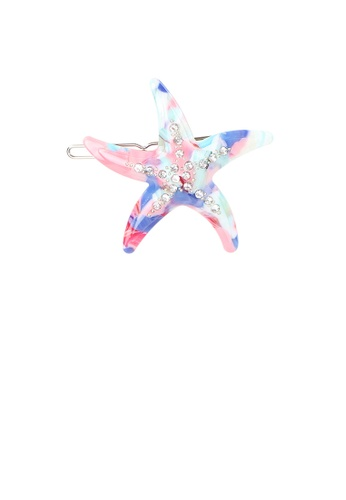 Glamorousky white Fashion and Simple Color Starfish Hair Clip with Cubic Zirconia CF1A7ACFF3E859GS_1