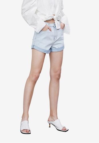 URBAN REVIVO blue Denim Shorts 28B4FAAEC98519GS_1