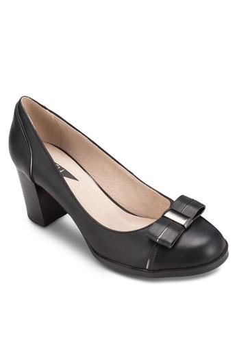 蝴蝶結粗跟淑女esprit outlet 旺角鞋, 女鞋, 鞋