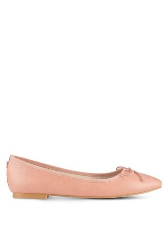 Velvet pink Bow Ballerinas 776D3SH938B9E4GS_1