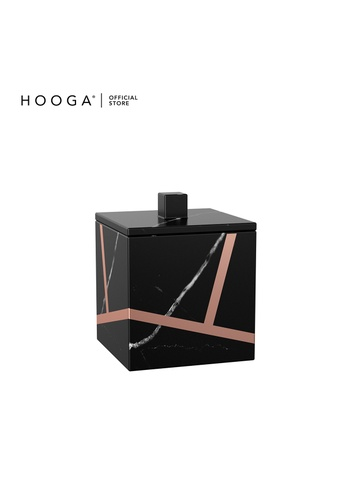 HOOGA black and gold Hooga Toiletries Cotton Bud Container Harisson (Bundle of 2) 96ADCHL5F0F372GS_1
