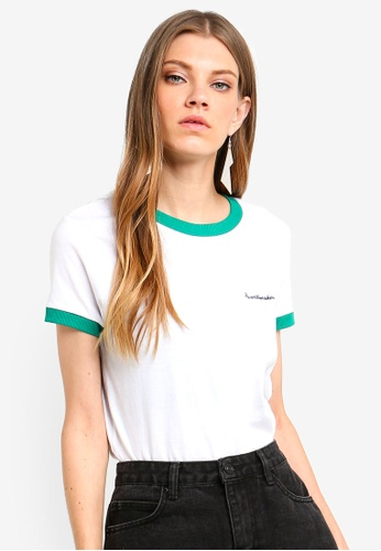 Brave Soul white T-Shirt With Contrast Rib 1B8E8AA83CACFEGS_1