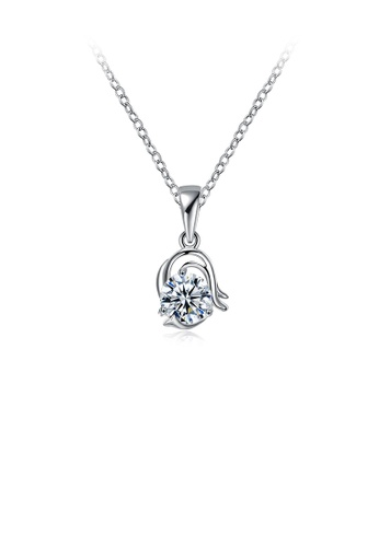 Glamorousky white Simple and Fashion Twelve Constellation Capricorn Pendant with Cubic Zircon and Necklace 6E54FACF73E828GS_1