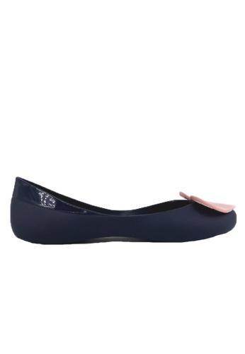 Halo 藍色 新款心心防水魚嘴平底鞋 8E696SH7ED10F0GS_1