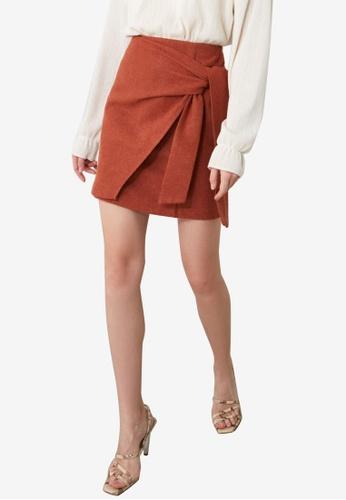 Trendyol orange Wrap Detail Skirt C68C9AA6CB3A06GS_1
