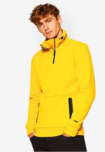 ESPRIT 黃色 長袖造型棉T 4CA94AA3E5C9C2GS_1