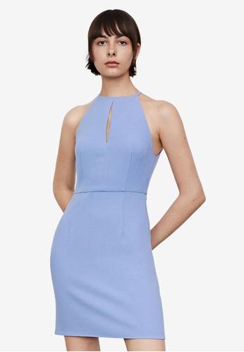 URBAN REVIVO purple Casual Dress 25EAEAA5875753GS_1