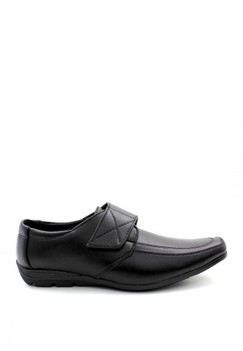 London Fashion black Claudius Leather  Shoes LO229SH06EIJPH_1