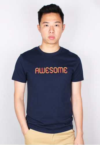 Moley navy AWESOME T-Shirt B703EAABDB4A90GS_1