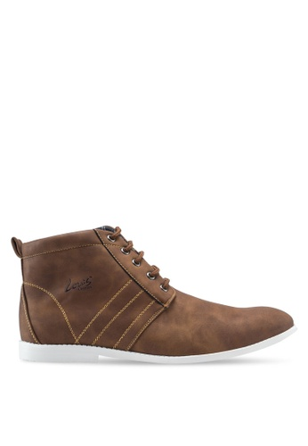 Louis Cuppers brown High Top Sneakers LO977SH91ZJGMY_1