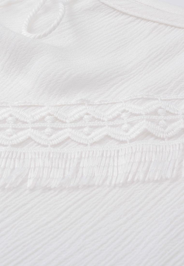 White Patch Front CONNECT Top Flounce Knot H qUTwPT