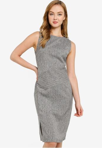 ZALORA WORK multi Sleeveless Sheath Dress 0E35DAAA18E504GS_1
