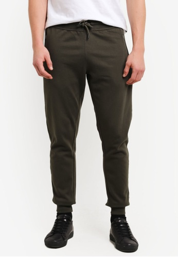 Burton Menswear London 綠色 Forest Green Slim Fit Joggers BU964AA0SHO4MY_1
