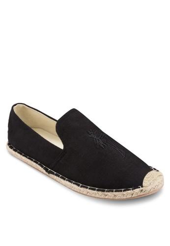 棕櫚樹圖案麻編懶人鞋, 鞋,esprit hk outlet 鞋
