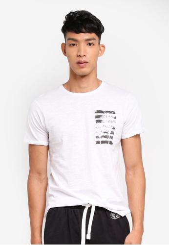 OVS 白色 短袖印花T恤 A4A28AAE2DFA78GS_1