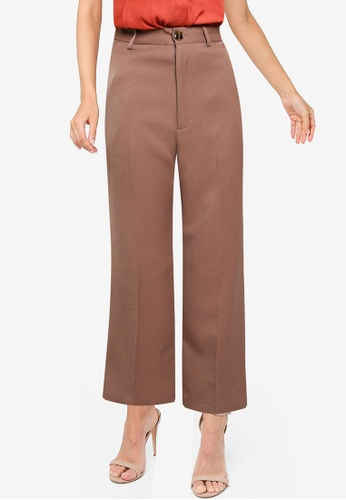 Heather brown Woven Pants 1A778AAEE6BD60GS_1