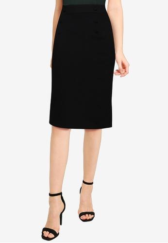 LC Waikiki black Knee-length Plain Skirt 5ED80AAD8A4A2FGS_1