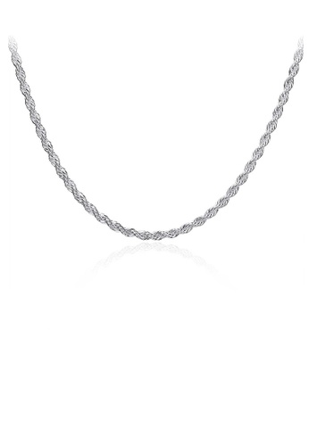 Glamorousky silver Fashion and Simple Necklace 7F583ACE503086GS_1