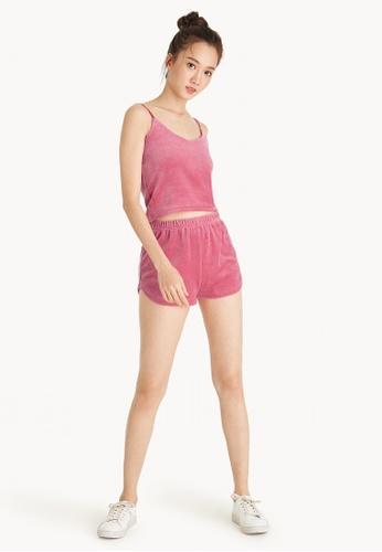 Pomelo pink Velvet Tracker Shorts - Pink E886DAA1097F75GS_1