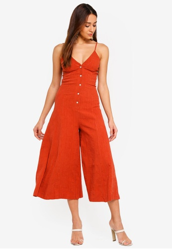 550b12df7b34 Shop INDIKAH Faux Button Front Midi Jumpsuit Online on ZALORA Philippines