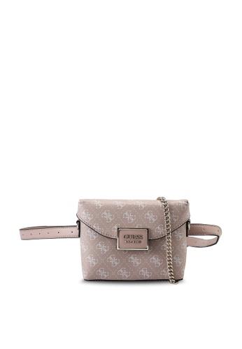 Guess pink Tyren Convertible Crossbody Belt Bag 854E6AC1A3432FGS_1