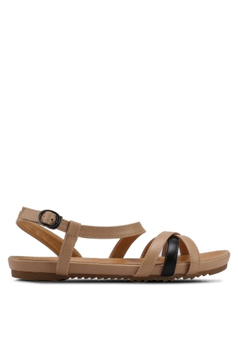 Mimosa beige Crossover Strap Sandals BF092SH9CB5A63GS_1