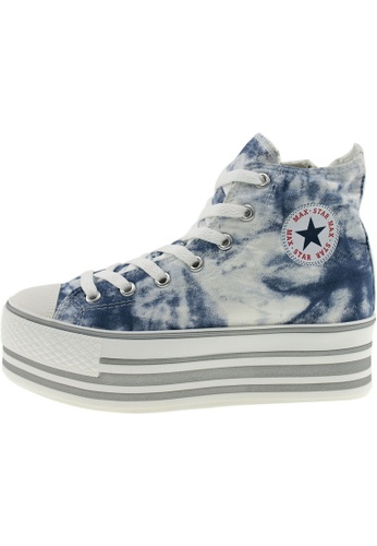 Maxstar Maxstar Women's C50 7 Holes Platform Canvas High Top  Sneakers US Women Size MA168SH52BKXHK_1