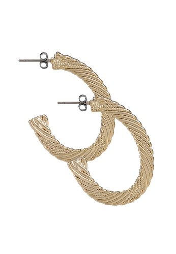 niko and ... gold Half Hoop Earrings 63B0FAC9276EB1GS_1