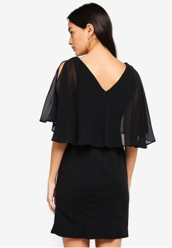 03b1ed9419daa9 Shop Wallis Petite Black Floral Print Shift Dress Online on ZALORA  Philippines