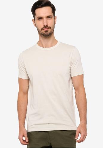 BOSS beige Tessler 89 T-Shirt B2E68AA41A7107GS_1