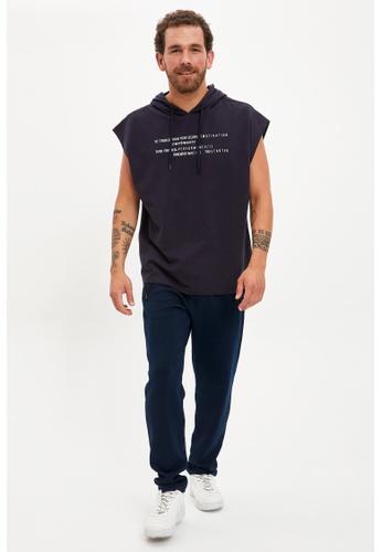 DeFacto 海軍藍色 Jogger Trousers FA9ADAA4389C9DGS_1