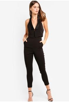 4c1117c079ca Lavish Alice black Double Layer Tuxdeo Tailored Leg Jumpsuit  1B132AA0060290GS 1