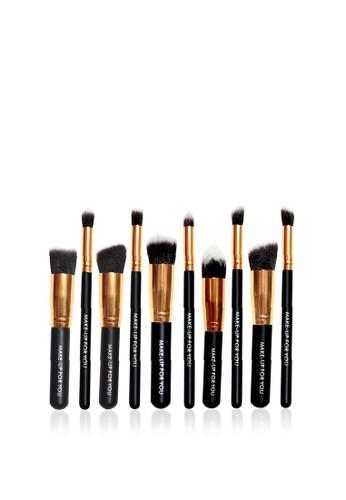 Makeup For You black Makeup For You The Basic 10 BLACK Brush Set 1A705BE2CDA29CGS_1