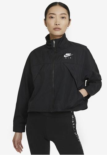 Nike black Air Woven Jacket 2CB21AA81264EAGS_1