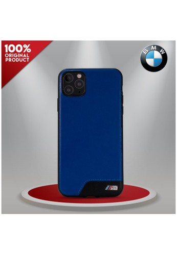 """BMW blue BMW - Smooth PU Leather Stripe Casing IPhone 11 Pro Max 6.5"""" - Blue 2D53FES36DFB71GS_1"""