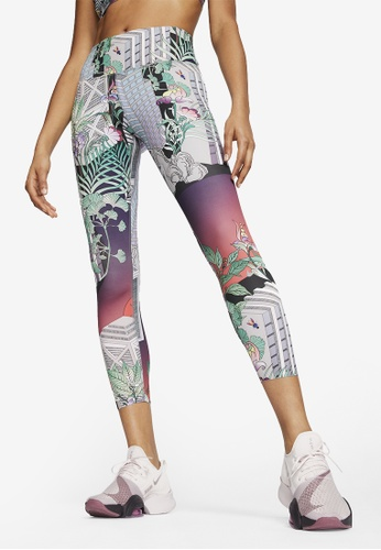 Nike red Epic Luxe 7/8 Running Tights 0383DAA60A4785GS_1