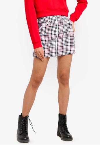 Factorie multi Zip Front A Line Skirt 52888AAB5C0862GS_1