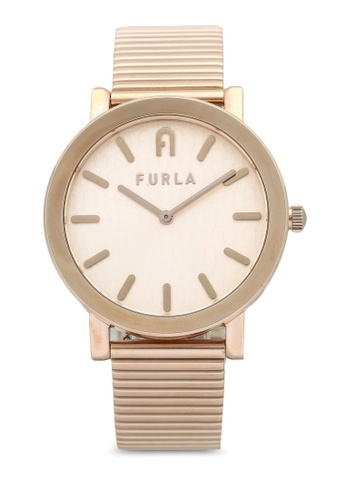 FURLA Watches 粉紅色 and 金色 Ladies Rose Gold Dress Watch F8FF7AC9550E0EGS_1