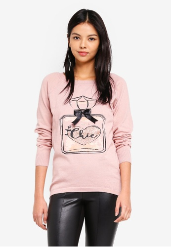 ONLY pink Noelle Pullover BE87FAABE03685GS_1