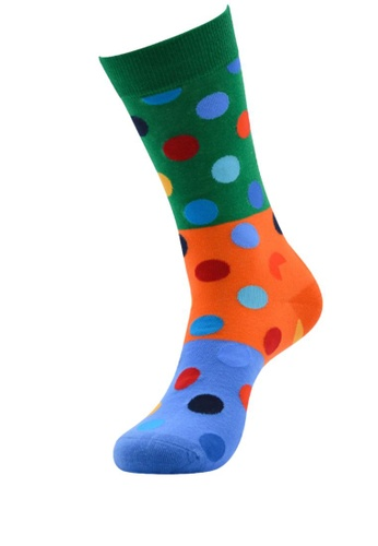 Kings Collection green Dot Pattern Cozy Socks (One Size) HS202370 F0682AA7C2AF4EGS_1