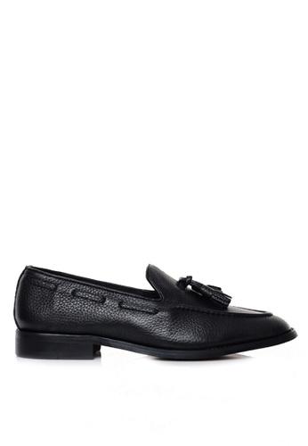 Zeve Shoes black Zeve Shoes Tassel Loafer - Black Pebble Grain 4DC81SH470778DGS_1