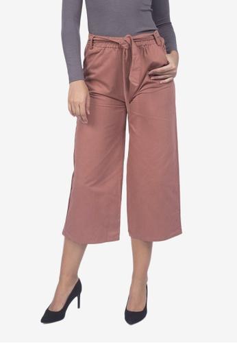 Caoros red Crop Trousers 5799FAA67AEF2FGS_1