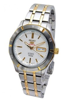 harga Seiko 5 Sport Jam Tangan Pria - Silver Gold - Stainless Steel - SRP290K1 Zalora.co.id