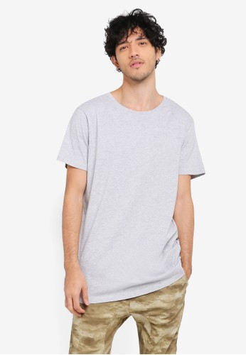 Cotton On grey Essential Longline Tee CO372AA0SS9SMY_1