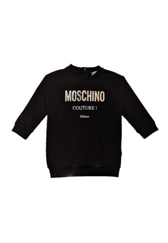 MOSCHINO BABY KID TEEN black MOSCHINO GIRLS DRESS 2FB34KA4251DA4GS_1